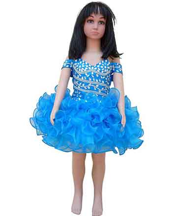 Sweet pageant dress drum major dress for girls