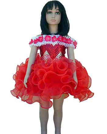 Beautiful Red Pageant dress and Drum major dress for girls