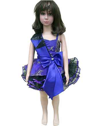 Nice purple girl pageant dress, drum major dress