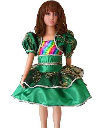 Very nice dark green Drum major dress, Pageant dress for girls,