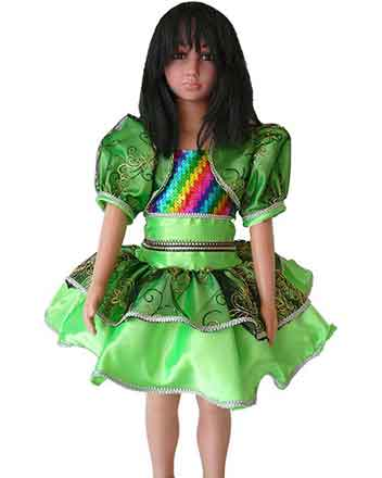 Lght Green design dress For Drum majors, Nice Pageant dress